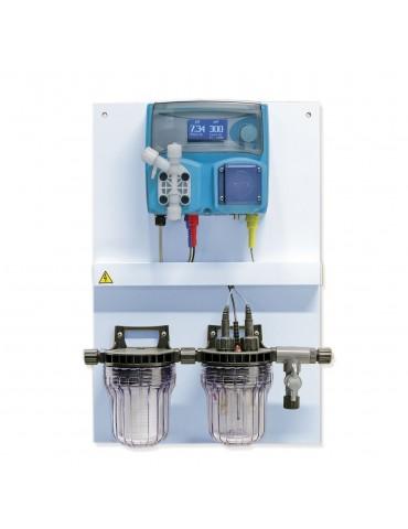 Pannello Controllo pH e Cloro da elettrolisi per piscine fino a