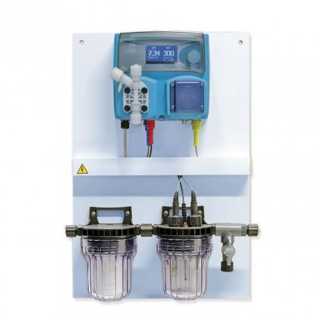 pH and Chlorine electrolysis control panel