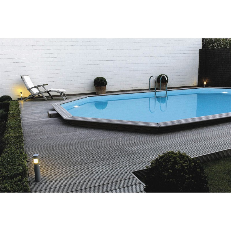 Gardi pool oblong 4 60 x 8 10 piscina fuori terra in for Aqua pool piscinas