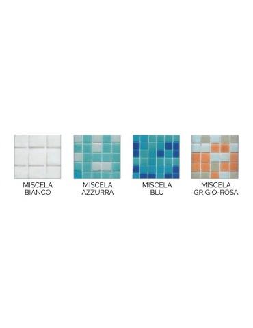 Mosaico vetroso su rete di nylon per piscina