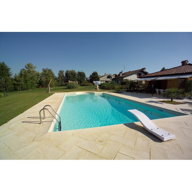 Bordo standard per piscina in pietra ricostruita 4x8 metri vannini aqua pool - Piscina gonfiabile 2 metri ...