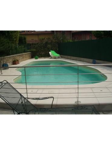 Bordo standard per piscina in pietra ricostruita 5x10 metri