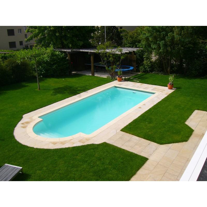 Bordo standard per piscina in pietra ricostruita 6x12 for Piscina 8 metri x 4