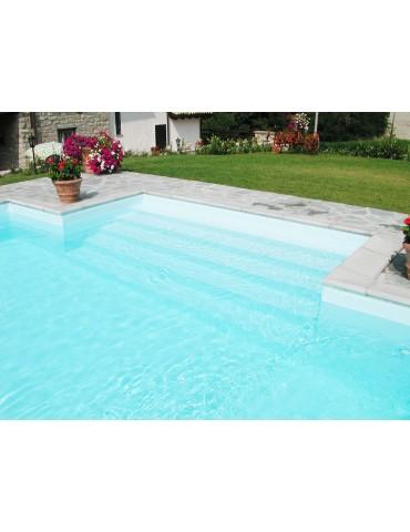 Bordo standard per piscina in pietra ricostruita 7x14 metri