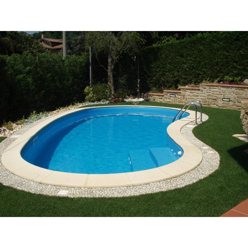 Bordo standard per piscina in pietra ricostruita 7x14 for Piscina 8 metri x 4