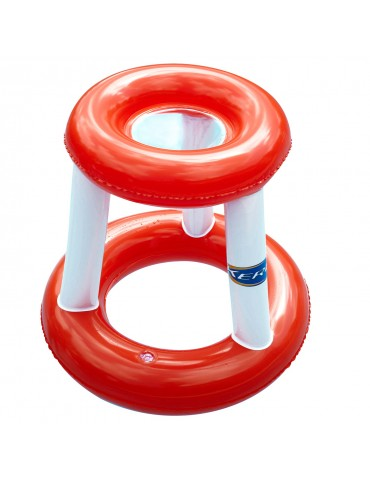 Inflatable basketball hoop for pools or gardens