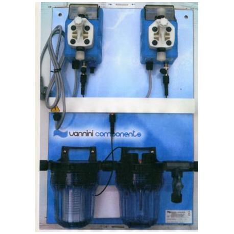 Pannello regolazione automatica pH e dosaggio antialghe