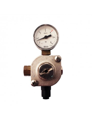 Pressure reducer for one-way CO2 tank