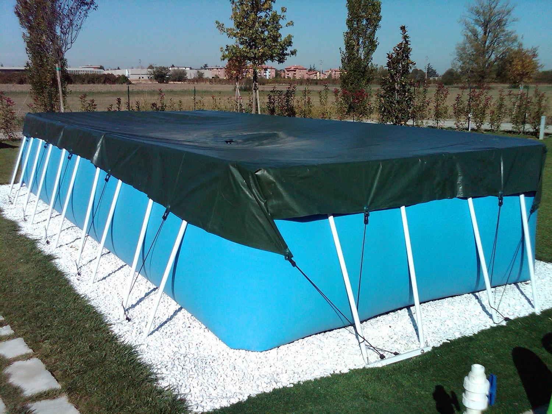 Copertura piscina fuori terra uq77 pineglen for Faretti per piscine fuori terra
