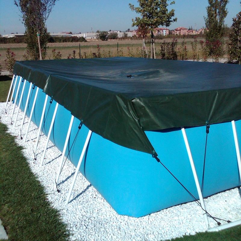 Copertura invernale per piscina fuoriterra laghetto for Teli per coprire piscine fuori terra