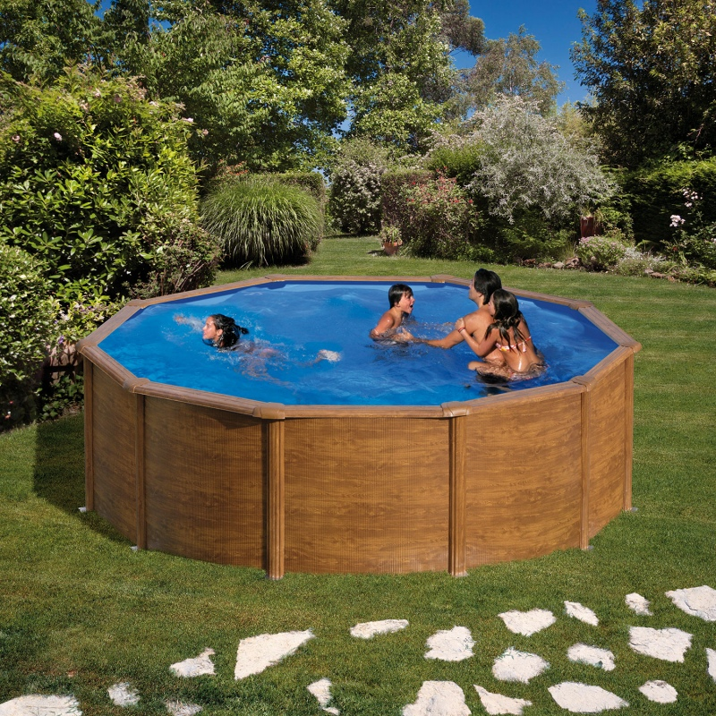 Above ground pool gre model pacific 4 6 x 1 2 vannini for Aqua pool piscinas