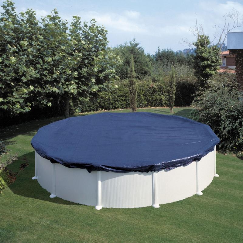 Piscina fuori terra gre modello fidji 3 5 x 1 20 vannini for Fabriquer enrouleur bache piscine