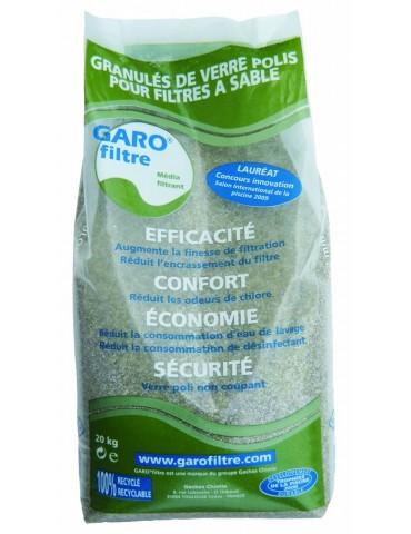 Vetro Filtrante Garofiltre per filtro piscina - Sacco da 20 kg