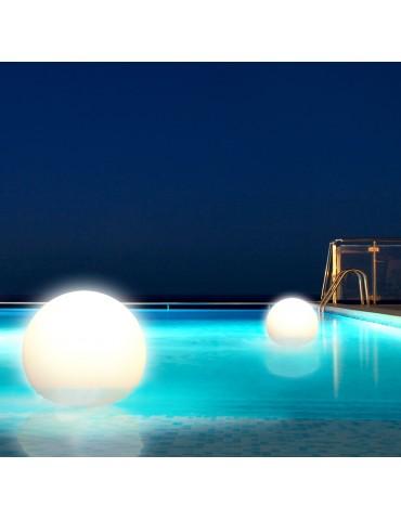 Sfera luminosa galleggiante con telecomando: luci fisse o