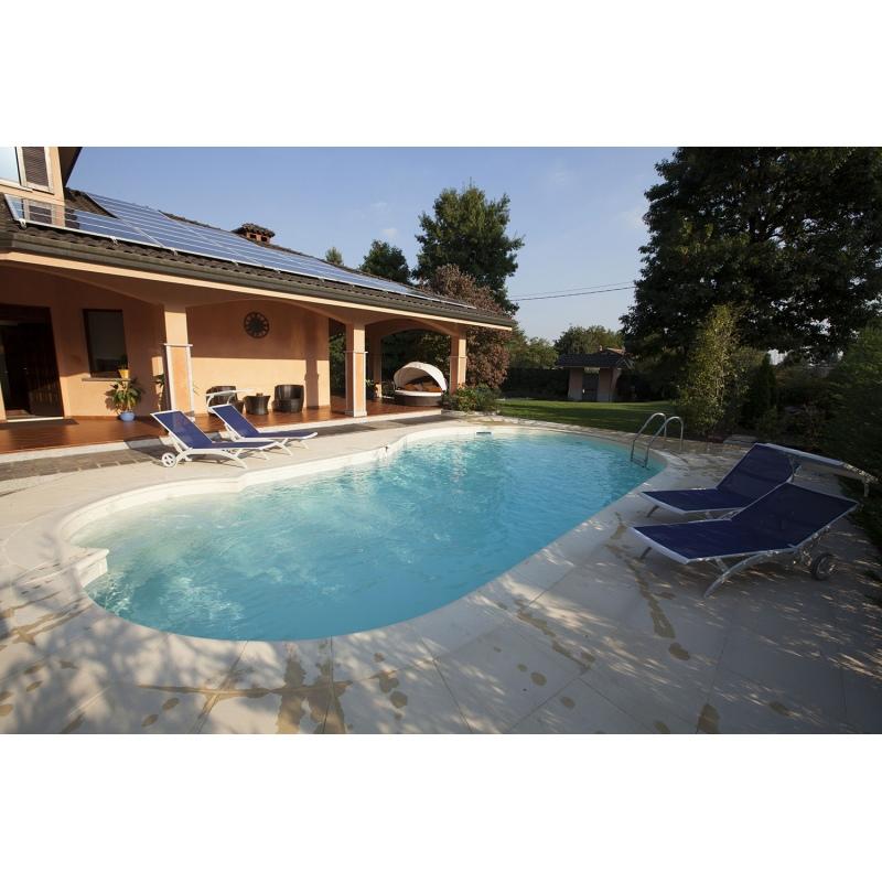Piscina interrata i blue a pannelli di acciaio camelia forma libera vannini aqua pool - Piscina interrata costi ...