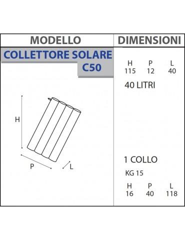 Collettore C50 per doccia solare