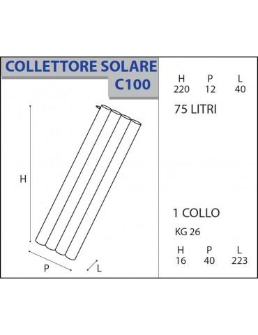 Collettore C100 per doccia solare