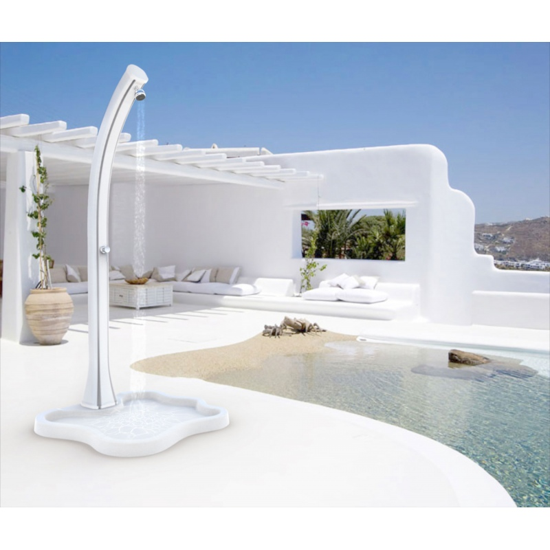 Piatto lake d108 per doccia solare da esterni vannini - Piatto doccia per esterno ...