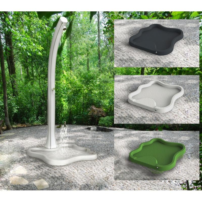 Piatto lake d108 per doccia solare da esterni vannini aqua pool - Siliconare box doccia interno o esterno ...