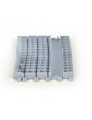 Kit 4 pezzi spazzola PVC Dynamic Comby corta grigia per Dolphin