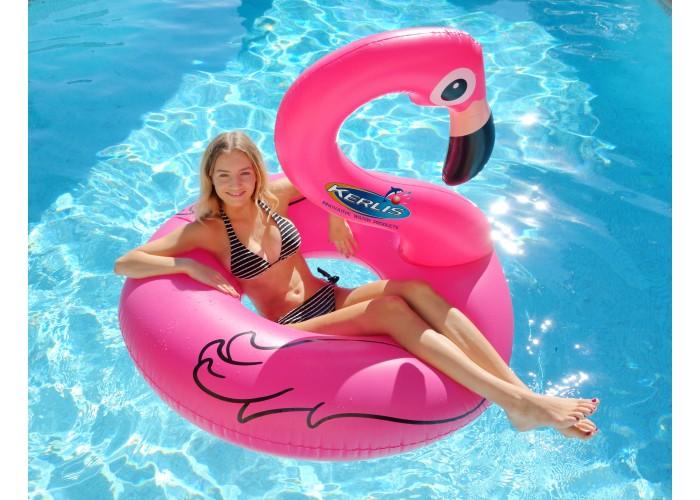 Fenicottero rosa gonfiabile per piscina