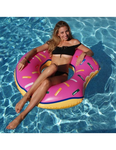 Inflatable Donut's-like air bed