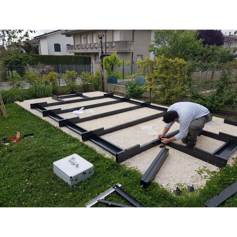 Basamento per piscine fuori terra laghetto dolce vita 2x4 for Costruire laghetto in cemento