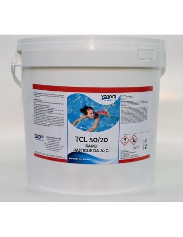 Cloro rapido per piscina pastiglie 20gr TCL 50/20 - 10 kg