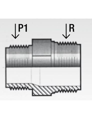 Nipplo ridotto in PVC