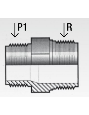 Nipplo PVC ridotto