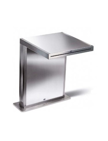 Floor-mounted cascade jet AQA stainless steel 111