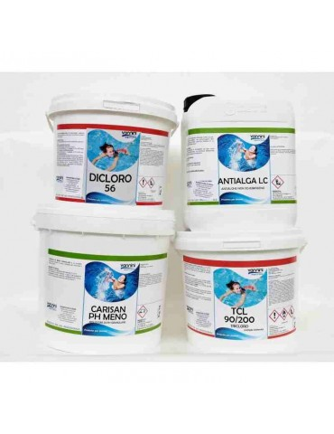 Pack 5- package of products for pools up to 30 m3.