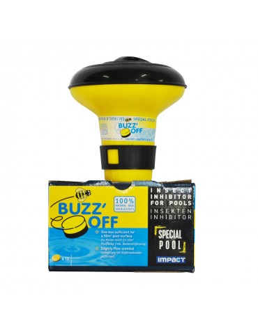 Buzz off + dispenser