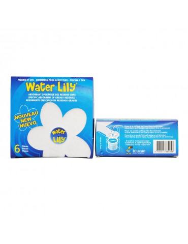 Water Lily - Fiore galleggiante piscina assorbi olii e creme