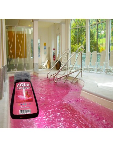 Aqua Couleur-FUCHSIA temporary pool water colorant