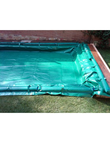Winter cover with pool tanks - stretch of water 5x10