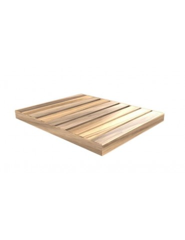 Shower plate Top in wood Okume