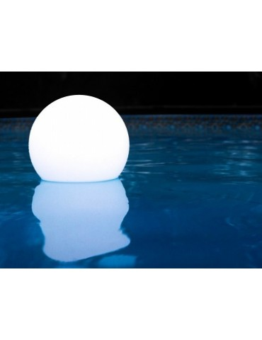 Solar floating round ball light, diam. 30 cm