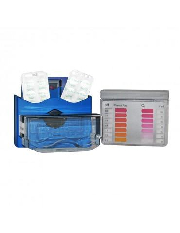 O2/pH analysis kit for pool water