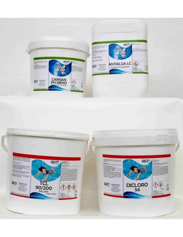 Pack 10-pack of pool products up to 50 m3