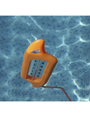 Surfboard-like floating thermometer