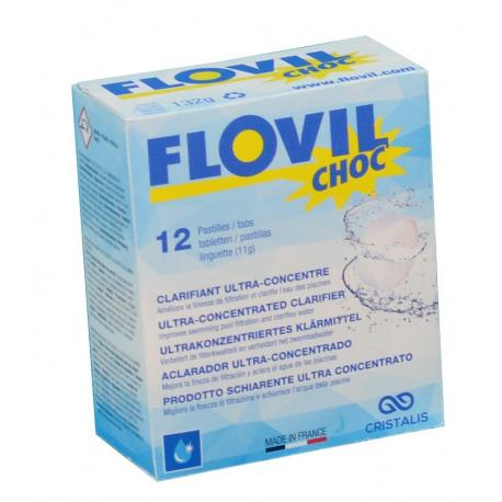 Flovil Choc - Pastiglia di flocculante schiarente per piscina