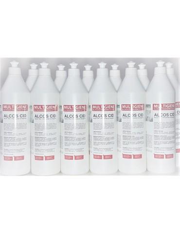 Igienizzante superfici 1 lt Alcos Cid - Pacchetto 12 flaconi
