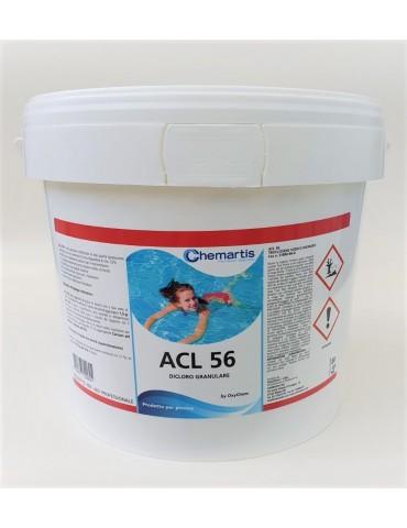 ACL Dicloro granulare 56% per piscina Biidrato - Confezione 5 kg.