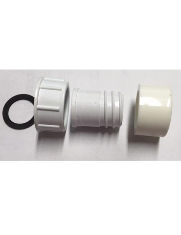 Raccordo completo di ghiera per tubo spiralato