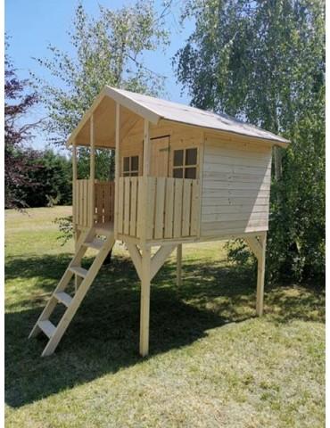Casetta rialzata Tommy da giardino in legno per bambini 179x200