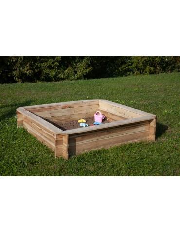 Sabbiera per bambini in legno 120x102