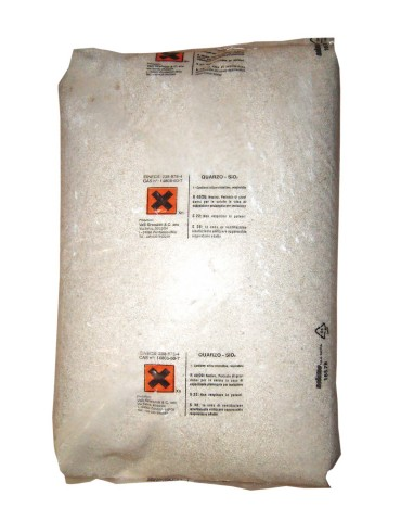 Sabbia di quarzo 0,4-0,8 mm per filtri piscina a sabbia - Sacco