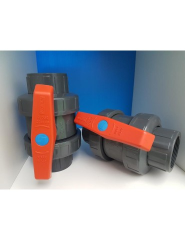 Ball valve in PVC