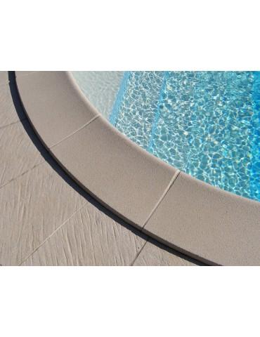 Bordo standard per piscina in pietra ricostruita 3x7 metri